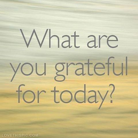 Gratitude – 22nd October2015