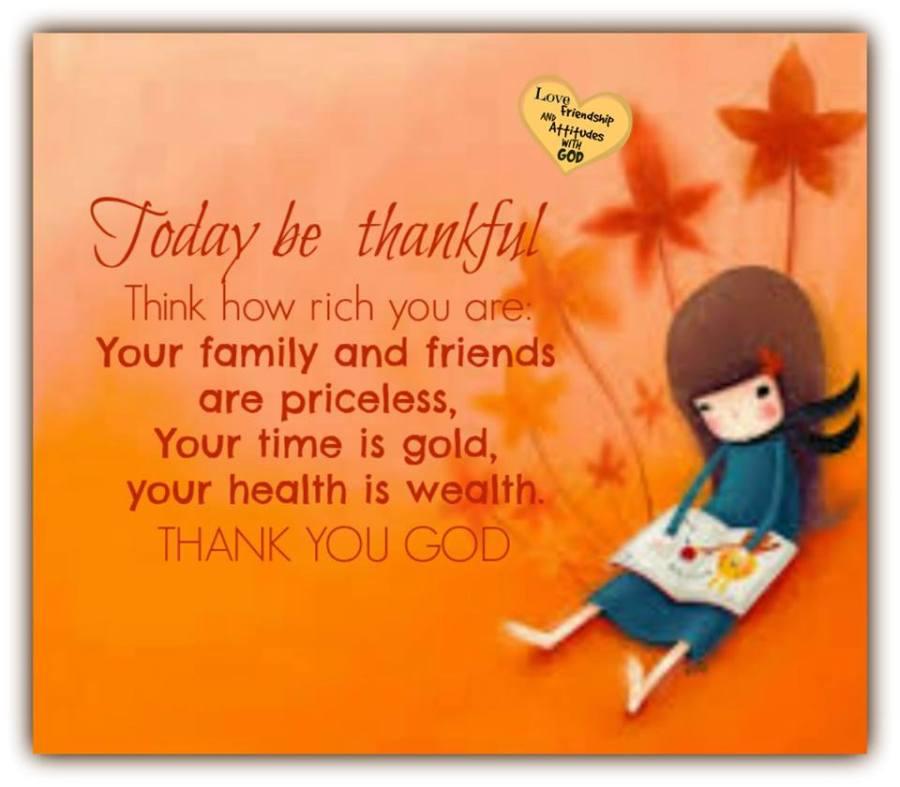 Gratitude – 25th January2016